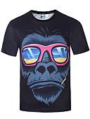abordables Camisetas y Tops de Hombre-Hombre Punk & Gótico Boho Fiesta Deportes Discoteca Estampado - Camiseta, Escote Redondo