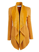 cheap Women's Blazers & Jackets-Women's Going out Street chic Jacket - Solid Colored, Pure Color Shirt Collar / Spring / Fall