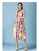 preiswerte Maxi-Kleider-Damen Schick & Modern Swing Kleid Blumen Knielang