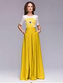 baratos Vestidos de Mulher-Mulheres Evasê Vestido - Estilo Floral, Outro Cintura Alta Longo