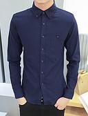 ieftine Bluze Bărbați-Bărbați Cămașă Casual - Mată
