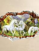 ieftine Rochii de Damă-Animale Desene Animate #D Perete Postituri Autocolante perete plane 3D Acțibilduri de Perete Autocolante de Perete Decorative, Vinil