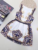 cheap Girls' Dresses-Kids Girls' Floral / Cartoon Beach Floral / Patchwork Sleeveless Dress / Cotton