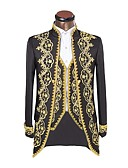 cheap Historical & Vintage Costumes-Prince Cosplay Costume Jacket Masquerade Men's Christmas Halloween Carnival New Year Festival / Holiday Halloween Costumes Black Solid