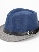 baratos Chapéus de Moda-Homens Linho, Fedora Retalhos