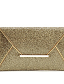 cheap Evening Dresses-Women's Bags Polyester / PU(Polyurethane) Evening Bag Sequin Gold / Black / Coffee