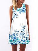 ieftine Print Dresses-Pentru femei Concediu / Ieșire Șic Stradă Teacă Rochie Floral Sub Genunchi