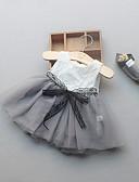 baratos Vestidos para Bebês-bebê Para Meninas De Renda / Com Babado Feriado / Casual / Praia Sólido Sem Manga Algodão Vestido / Bébé