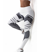 cheap Leggings-Women's Cross - spliced / Sporty Legging - Striped, Print Mid Waist / Sporty Look / Skinny