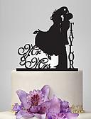baratos Decorações de Bolo-Decorações de Bolo Tema Jardim / Tema Clássico Casal Clássico Acrílico Casamento / Aniversário / Chá de Cozinha com 1 pcs PPO