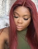 billige Sexet dametøj-Remy hår Helblonde Paryk Lige 130% Massefylde 100 % håndbundet Afro-amerikansk paryk Natural Hairline Ombre-hår Kort Medium Lang Dame