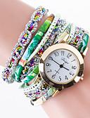 baratos Relógios da Moda-Mulheres Bracele Relógio Chinês Criativo / / PU Banda Relógio Criativo Único / Relógio simulado de diamantes Preta / Branco / Azul