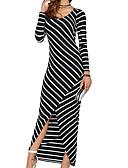 זול שמלות נשים-מקסי פסים - שמלה נדן בגדי ריקוד נשים / קיץ / Stripe פיין / רזה