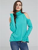 お買い得  レディースセーター-女性用 ストリートファッション プルオーバー - ソリッド パッチワーク