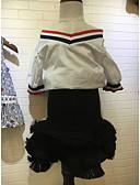 preiswerte Mode für Mädchen-Mädchen Kleidungs Set Volltonfarbe Baumwolle Sommer Ärmellos Weiß