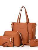 preiswerte T-Shirt-Damen Taschen PU Bag Set 4 Stück Geldbörse Set Solide Rosa / Grau / Braun / Beutel Sets