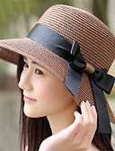 abordables Sombreros de mujer-Mujer Sombrero para el sol - Chic de Calle Un Color / Verano