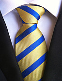 baratos Gravatas e Gravatas Borboleta-Homens Festa Trabalho Básico Poliéster, Gravata Listrado