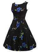 cheap Women's Dresses-Women's Vintage Street chic Swing Dress - Floral High Rise