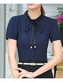 cheap Fashion Belts-Women's Work Shirt - Solid Colored Shirt Collar