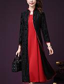 ieftine Rochii Damă-Pentru femei Mărime Plus Size Pantaloni - Bloc Culoare Dantelă Roșu-aprins / Stand / Larg