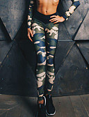 cheap Leggings-Women's Cross - spliced / Sporty Legging - Camouflage, Print Mid Waist / Sporty Look