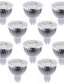 baratos Decorações de Bolo-10pçs 5.5 W 450-500 lm MR16 Lâmpadas de Foco de LED 4 Contas LED LED de Alta Potência Decorativa Branco Quente / Branco Frio 12 V / RoHs