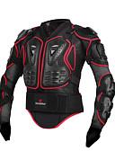 baratos Couro-Jaqueta para Ciclismo Moto Jaqueta / Blusas Esportes Preto / Vermelho Roupa de Ciclismo / Com Stretch