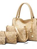 preiswerte Mantel & Trenchcoat-Damen Taschen PU Bag Set 4 Stück Geldbörse Set Pelz Solide Gold / Weiß / Schwarz / Beutel Sets