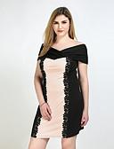 baratos Vestidos Femininos-Mulheres Tamanhos Grandes Vintage Reto / Bainha / Rendas Vestido - Renda, Estampa Colorida Com Alças Altura dos Joelhos