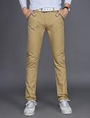 זול מכנסיים ושורטים לגברים-בגדי ריקוד גברים סגנון רחוב / פאנק & גותיות מידות גדולות כותנה רזה / צ'ינו / Business מכנסיים אחיד / עבודה