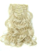 cheap Men's Shirts-Hair Piece Wavy Classic Synthetic Hair Hair Extension Clip In Daily