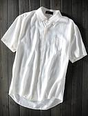 cheap Men's Shirts-Men's Linen Shirt - Solid