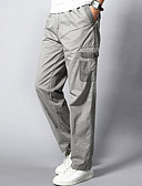 cheap Men's Pants & Shorts-Men's Active Plus Size Cotton Loose Straight / Chinos / Sweatpants Pants - Solid Colored / Weekend