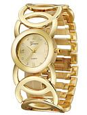 זול קווארץ-בגדי ריקוד נשים שעון יד שעונים יום יומיים / מגניב מתכת אל חלד להקה צמיד זהב