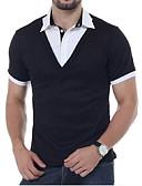 tanie Męskie koszulki polo-Polo Męskie Kołnierzyk koszuli Solidne kolory / Krótki rękaw