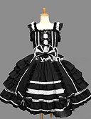 preiswerte Retro-Königin-Prinzessin Gothik Damen Mädchen Ärmellose Kleider Cosplay Schwarz Ballkleid Kappe Ärmellos Kurz / Mini Übergrössen Kundenspezifische Kostüme