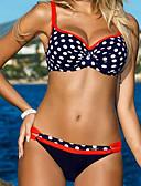 ieftine Bikini & Costume Baie 2017-Pentru femei Cu Bretele Portocaliu Roșu-aprins Galben Cheeky Bikini Costume de Baie - Buline Imprimeu L XL XXL