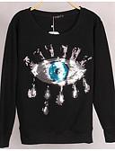 voordelige Damestruien-Dames Katoen Sweatshirt - Pailletten, Effen 3D Print