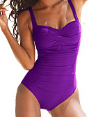 cheap Men's Swimwear-Women's Plus Size Strap One-piece - Solid Colored Basic Briefs