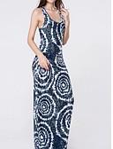 baratos Vestidos Longos-Mulheres Algodão Delgado Bainha Vestido Leopardo Com Alças Longo