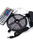 olcso Sportos óra-5 m Világítás készletek 300 LED 5050 SMD RGB 100-240 V / IP44