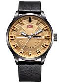 baratos Relógio Elegante-Homens Relógio de Pulso Venda imperdível Couro Legitimo Banda Casual / Fashion / Relógio Elegante Preta / Marrom / Aço Inoxidável / Dois anos / Sony SR626SW