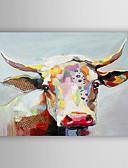 baratos Biquínis e Roupas de Banho Femininas-Pintura a Óleo Pintados à mão - Animais Moderna Estilo Artístico Tela de pintura