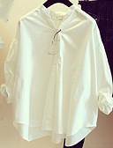 preiswerte Hemd-Damen Solide Baumwolle Hemd, Ständer