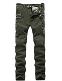 abordables Jerséis y Cardigans de Hombre-Hombre Algodón Delgado Chinos Pantalones - Un Color