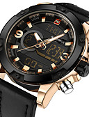 cheap Military Watches-Men's Sport Watch Military Watch Wrist Watch Digital 30 m Calendar / date / day Creative Noctilucent Genuine Leather Band Analog-Digital Charm Luxury Vintage Black / Brown / Grey - Coffee Golden Gold