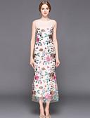 זול שמלות נשים-מידי מסוגנן רקום, רקמה - שמלה צינור רזה מתוחכם בגדי ריקוד נשים