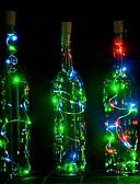 זול תחתוני גברים אקזוטיים-1pc בקבוק יין LED לילה אור לבן חם קישוט / מנורת אטמוספרה