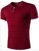 baratos Camisetas & Regatas Masculinas-Homens Camiseta - Esportes Sólido / Estampa Colorida Algodão Decote Redondo / Manga Curta